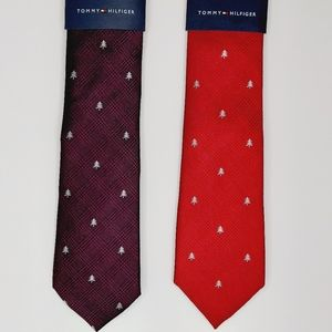 Bundle Tommy Hilfiger Tie Glen Plaid Holiday Trees